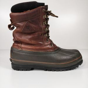 Rocky brown leather winter & snow boots insulated